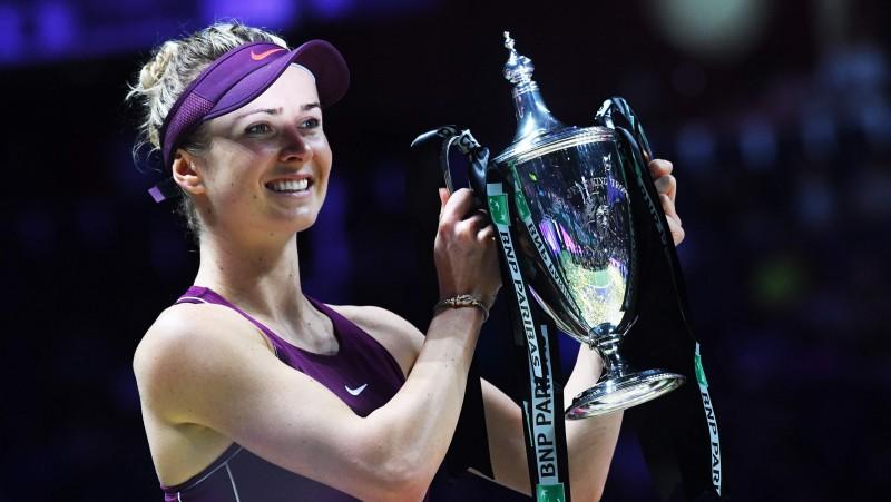 """""""WTA Finals"""" čempione Svitoļina iegūst priekšpēdējo ceļazīmi uz finālturnīru"""