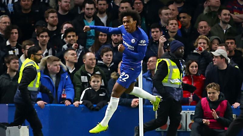 """Viljans ar skaistiem vārtiem nodrošina """"Chelsea"""" uzvaru pār """"Newcastle"""""""