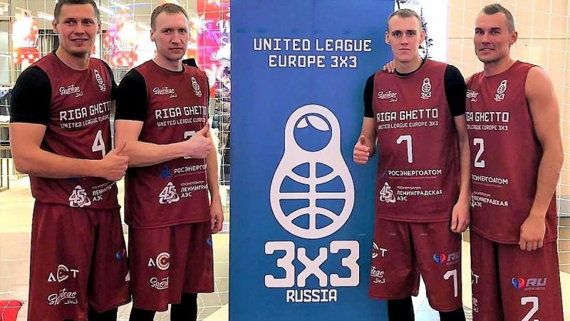 """""""Riga Ghetto Basket"""" sezonu sāk ar trešo vietu Sanktpēterburgā"""