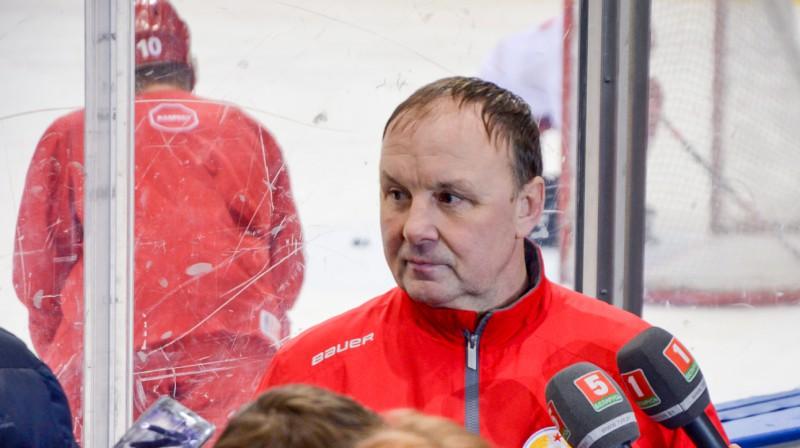 """Baltkrievijas izlases treneris: """"Būtu pareizi, ja nākamgad pasaules čempionātu rīkotu Šveice"""""""