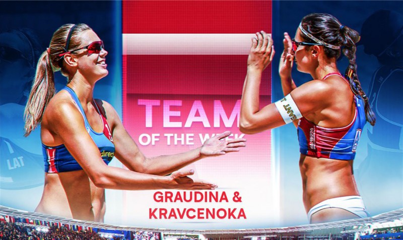 Graudiņa/Kravčenoka - FIVB nedēļas labākā komanda