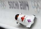 Maijersai liktenīga kļūda, par divkārtējām olimpiskajām čempionēm bobslejā kļūst kanādietes