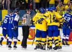 Zviedrija zaudē pirmos punktus, tomēr pārspēj Slovākiju un svin piekto uzvaru