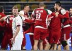 Ungārija PČ handbolā pārsteidz Vāciju, Dānijai trešā graujošā uzvara