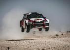 Bijušais WRC pilots Mīke ar latviešu komandas automašīnu pēc lieliska starta spiests izstāties