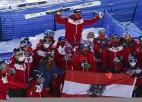 Spraigais Šveices un Austrijas duelis par uzvaru medaļu ieskaitē