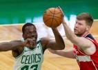 """Bertānam 20 punkti, """"Wizards"""" sāpīgs zaudējums pret """"Celtics"""""""