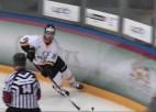 """Video: """"Olimp/Venta 2002"""" ar trīs vārtiem otrajā periodā nodrošina uzvaru Liepājā"""