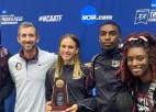 Trīssoļlēcēja Lasmane ar valsts rekordu telpās izcīna NCAA bronzu