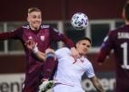 Melnkalnes izlase atzīmē Latvijas aso spēli un slikto laukuma kvalitāti