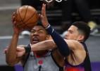 "Bertānam atpūta, Vestbrukam <i>triple-double</i>, ""Wizards"" sagrāve pret ""Suns"""