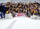 """""""Olimp"""" sakauj regulārās sezonas uzvarētājus un izcīna Latvijas zeltu, MVP - Rēdlihs"""