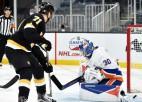 """""""Bruins"""" un """"Golden Knights"""" sausās uzvaras, no """"Sabres"""" aizmainītajam Holam otrie vārti pēc kārtas"""