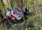Video: Kalle Rovanpera Horvātijas WRC piedzīvo iespaidīgu avāriju