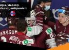 """Video: """"Hokeja pēcgarša"""" ar Balceru, Ankipānu un Muštukovu pēc mača pret Norvēģiju"""