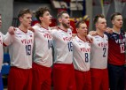 Latvijas kungi Zelta līgu sāk ar uzvarētu setu un zaudētu spēli