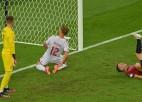 """Video: Dānija notur minimālu pārsvaru un kvalificējas """"Euro 2020"""" pusfinālam"""