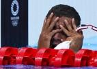 Peldēšanā četri komplekti: zelts japānietei un 18 gadus vecam tunisietim, Austrālijai pasaules rekords