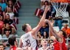 Latvijas izlase pārbaudes spēlē Saldū sakauj Šveici, Lomažs iemet 28 punktus