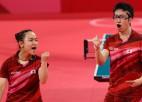 Tokijā negaidīti triumfē Japānas galda tenisa jaukto dubultspēļu pāris