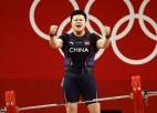 Vanga izcīna Ķīnai sesto zelta medaļu svarcelšanā