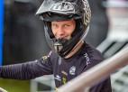 Latvijas elites BMX riteņbraucējiem ātri noslēdzas pasaules čempionāts
