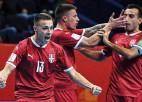 Serbijas un Paragvajas telpu futbolisti izrauj vietas PK astotdaļfinālā