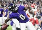 """Džeksons ar salto izrauj """"Ravens"""" uzvaru, pirmais panākums tiek arī """"Packers"""""""