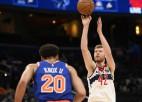 Bertānam viens precīzs tālmetiens un astoņi punkti ''Wizards'' neveiksmē pret ''Knicks''