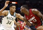 """Heat"" ar +42 sagrauj čempioni ""Bucks""; Karijam 45+10 uzvarā pret ""Clippers"""
