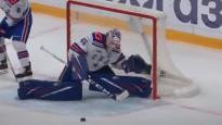 KHL pusfinālu atvairījumos triumfē SKA vārtsargs