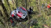 Kalle Rovanpera Horvātijas WRC piedzīvo iespaidīgu avāriju
