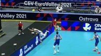 Latvijas volejbolisti piedalās EČ astotdaļfinālu labākajā epizodē
