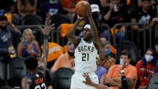 """""""Bucks"""" atspēlē 16 punktu deficītu un nonāk uzvaras attālumā no titula"""