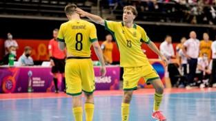 """Lietuva cienīgi zaudē Eiropas """"top 4"""" telpu futbola komandai Kazahstānai"""