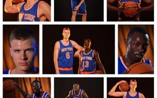 """Foto: Ņujorkas """"Knicks"""" draftētais Porziņģis spēlēs ar 6. numuru"""