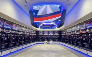 """Video: Merzļkina otrās mājas: """"Blue Jackets"""" prezentē atjaunoto komandas ģērbtuvi"""