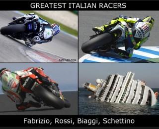"""Foto: Dienas foto joks """"Lielākie itāļu braucēji"""""""