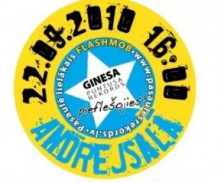 Flashmob Ginesa rekords vai priekšvēlēšanu aģitācijas pasākums?