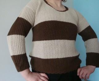 Džemperis vienkāršā mežģīņrakstā