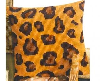 Adīts vai izšūts spilvens leoparda rakstā+ 4 līdzīgas shēmas