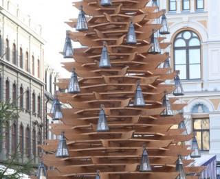 """Festivāla """"Ziemassvētku egļu ceļš"""" vides objekti būs apskatāmi līdz 8. janvārim"""