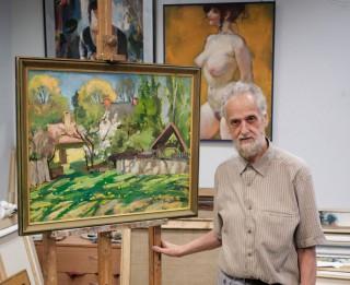 """Gleznotāja Jura Ģērmaņa 80 gadu jubilejas izstāde """"Mana pasaule"""""""