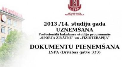 Šodien sākusies jauno studentu uzņemšana Latvijas Sporta pedagoģijas akadēmijā