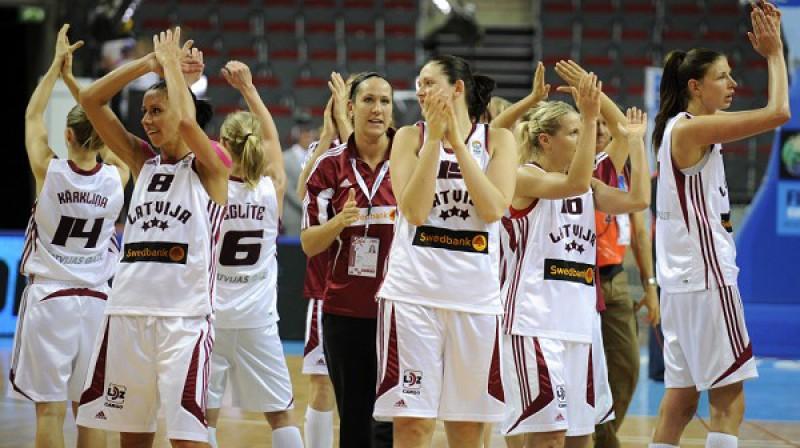 Latvijas sieviešu basketbola izlase Foto: Romāns Kokšarovs, Sporta Avīze, f64