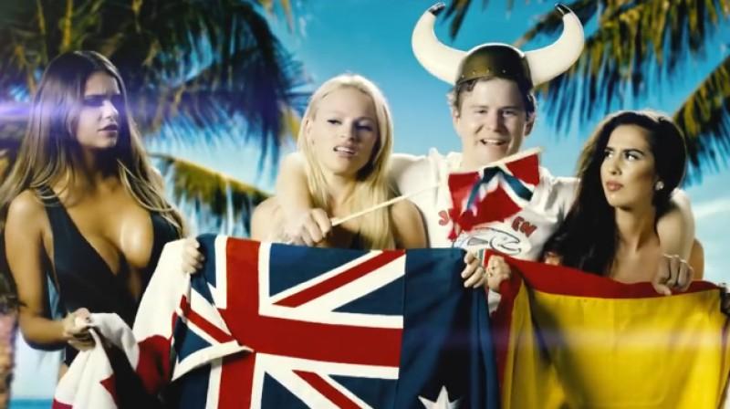 """Nikolajs Rams un dāmas  Foto: """"Vikings in Rio"""" / NRK Sport"""