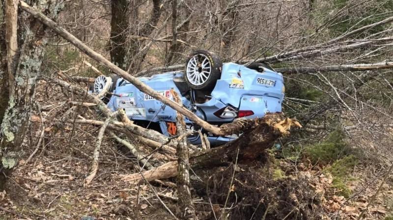 Kreiga Brīna automašīna pēc avārijas