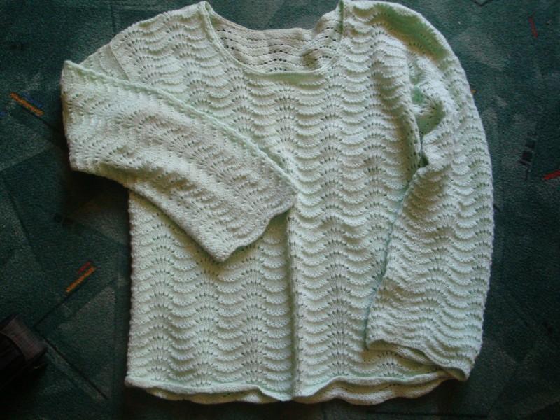 Stilīgs džemperis pāvu spalvu rakstā