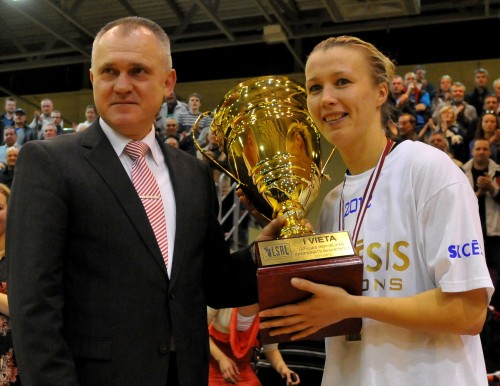 """Cēsu"" basketbolistes – Latvijas čempiones"