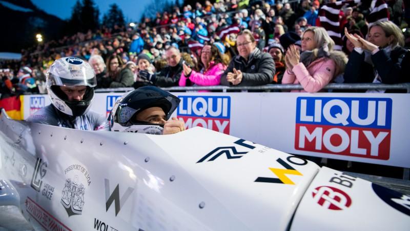 Ķibermaņa/Mikņa divnieks kā vienīgais no Latvijas uz starta Sanktmoricā